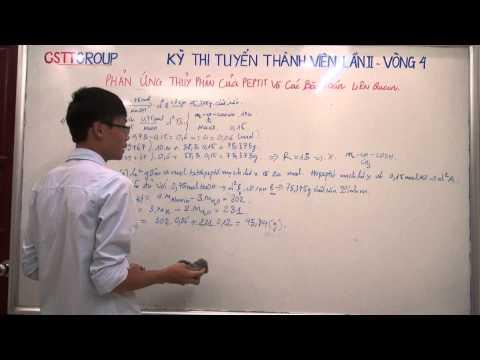 [HÓA] Phản ứng thủy phân của peptit và các bài toán liên quan (part 1)