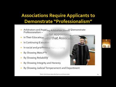 Becoming an Arbitrator - Qualifications to Become an Arbitrator, and Process to Become an Arbitrator
