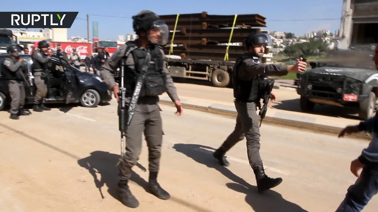 Israeli forces break up protest with tear gas & pepper spray in Palestine