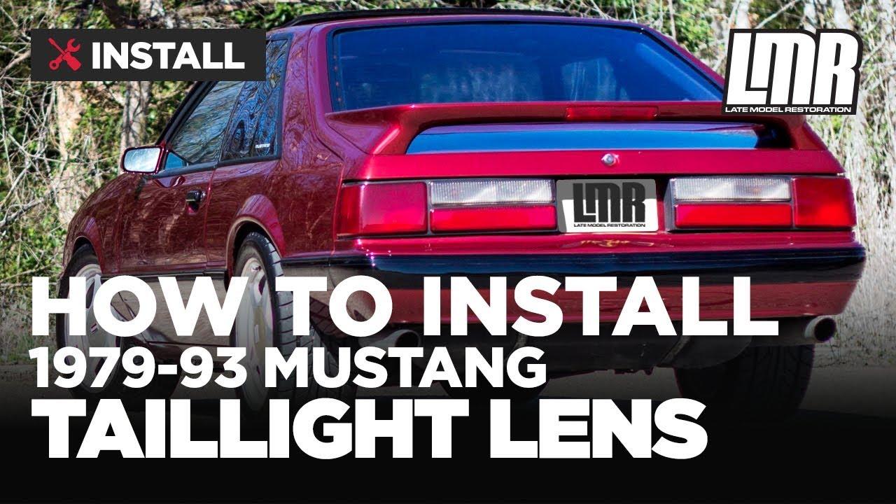 Fox Body Mustang Tail Light Lens Install  50Resto (7993)  YouTube