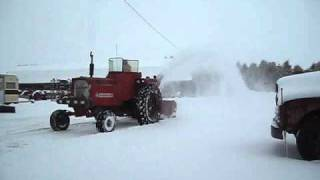 Farmall 656 Diesel Blowing Snow