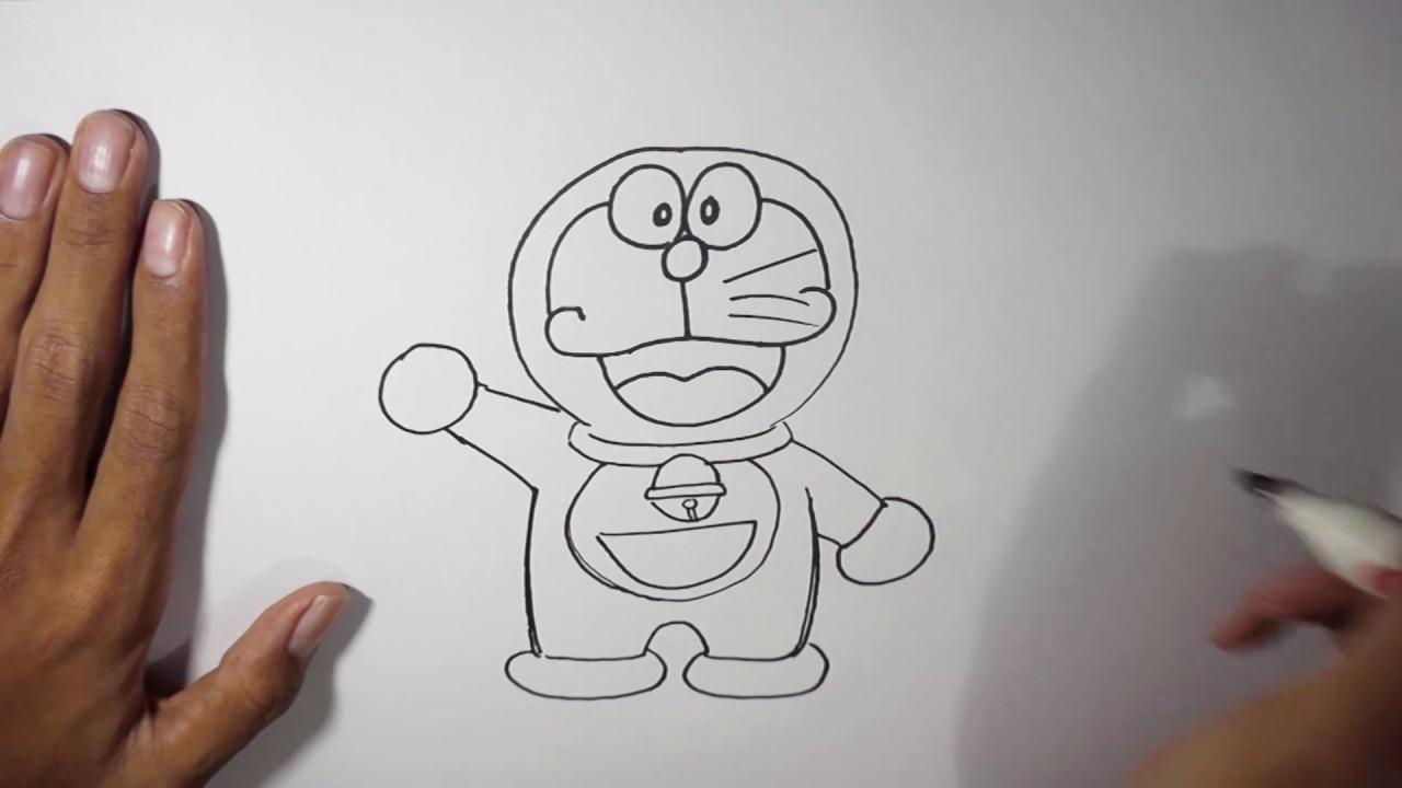 Cara Menggambar Doraemon Untuk Pemula Youtube