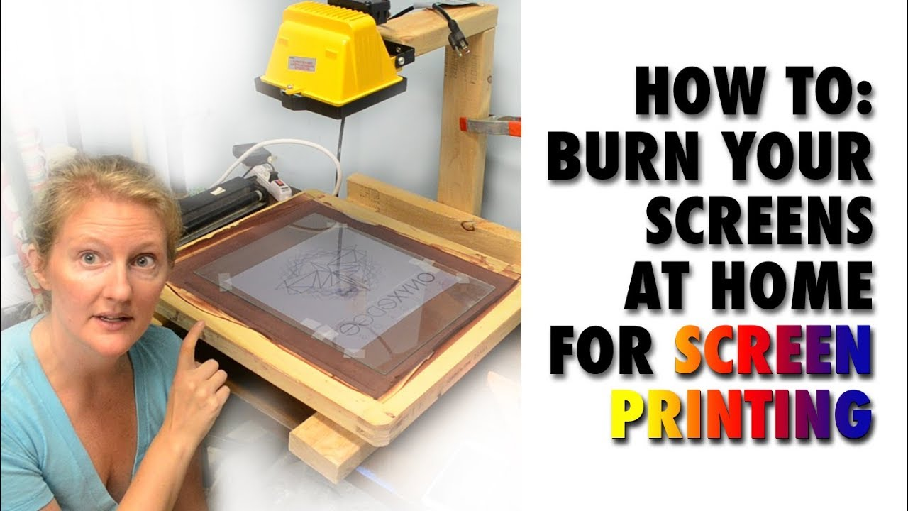 How To Burn Your Screens For Screen Printing At Home Youtube
