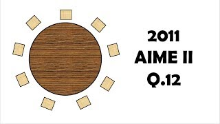 AIME: PIE with a Circular Table (2011 II Problem 12)
