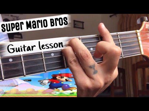 Mario Bros guitar theme song with tabs