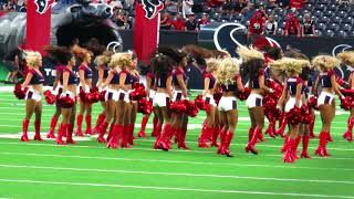 The Texans cheerleaders performing before the fourth & final presea...