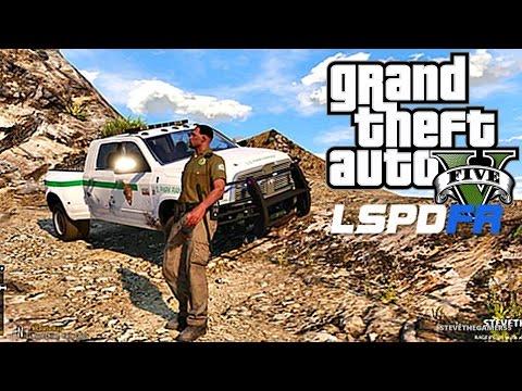GTA 5 LSPDFR 0.3.1 - EPiSODE 66 - LET'S BE COPS - PARK RANGER PATROL (GTA 5 PC POLICE MODS) BAD DAY