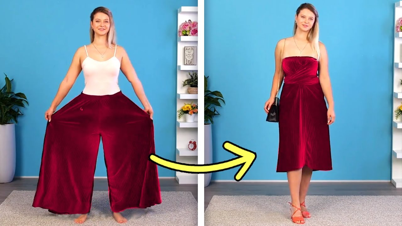 [VIDEO] - 42 COOL DIYS TO TRANSFORM YOUR OLD CLOTHES INTO SOMETHING NEW 1