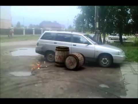 Подрыв машины в поселке Волжском в Костроме