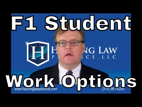 F1 Student Work Options