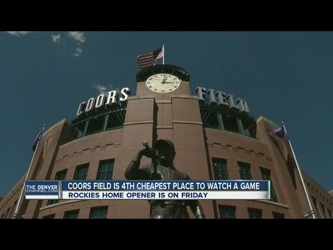 Coors Field is 4th cheapest place to see a game