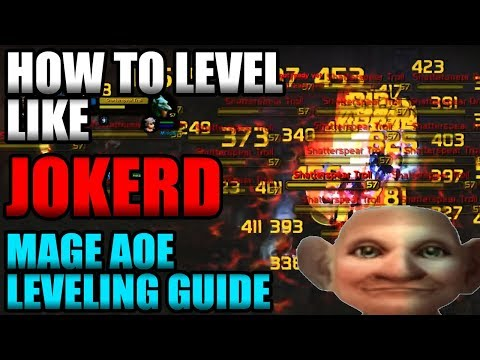 How To Level Like JokerD! Classic WoW Mage AoE Leveling Guide!!