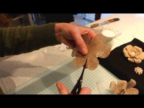 The Irish Per Beautiful Homemade Burlap Hessian Flowers