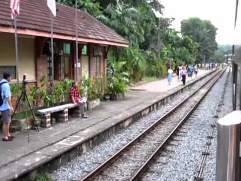 Singapore railway - exchange of tokens at Bukit Timah