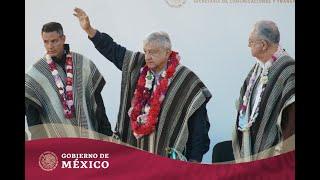 Inauguración del camino rural Santa María Tepantlali y di�...