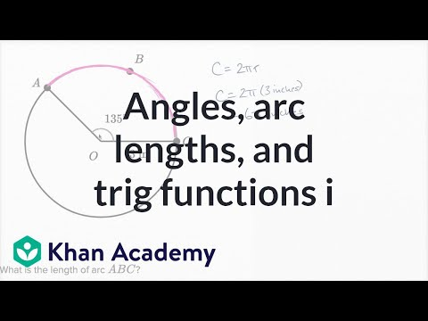Angles, Arc Lengths, And Trig Functions — Basic Example | Math | New SAT | Khan Academy