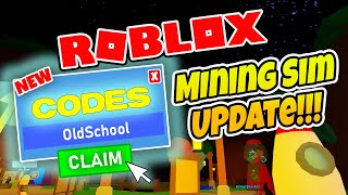 NEW CODES MINING SIMULATOR - Roblox