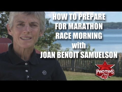 Marathon Running Tips: What to do on marathon race morning, with Joan Benoit Samuelson