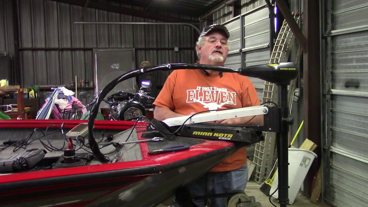 TIPS ON HOW TO INSTALL A DEPTH/FISHFINDER AT THE TROLLING MOTOR