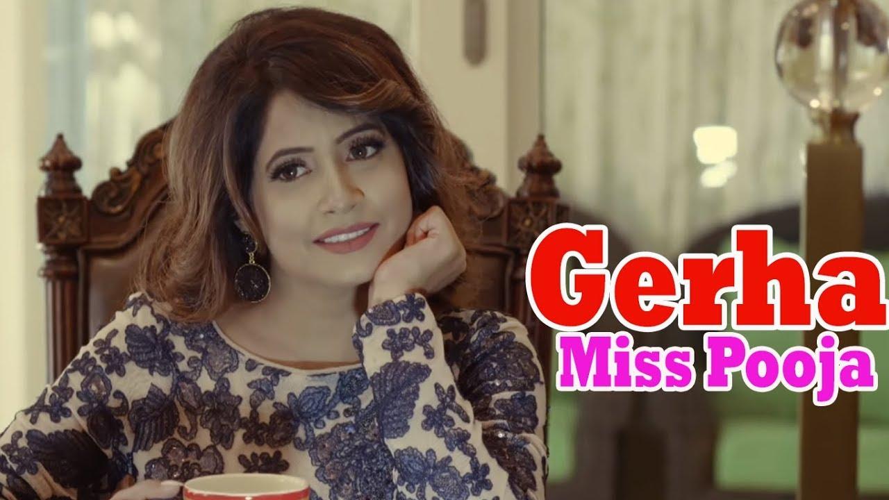 Gerha :: Miss Pooja New Song   Punjabi Song 2018   4K Video Song    Dharamvir Thandi & Miss Pooja