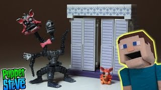 Five Nights at Freddy's fnaf NIGHTMARE MANGLE The Closet McFarlane toys construction set unboxing