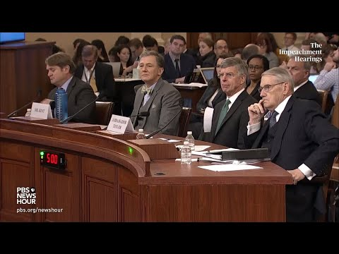 PBS NewsHour: WATCH: Rep. Swalwell full questioning of George Kent and Bill Taylor | Trump impeachment hearings