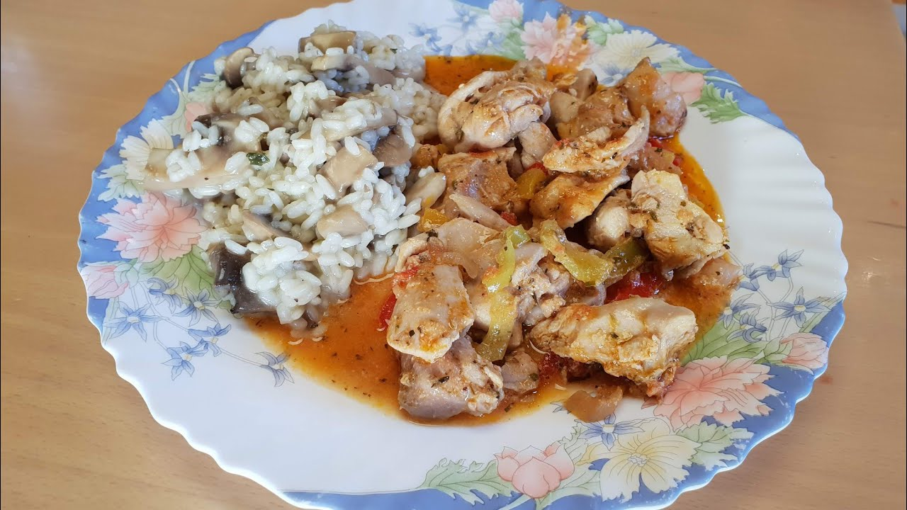 Chicken With Peppers Greek Daily Recipes Youtube