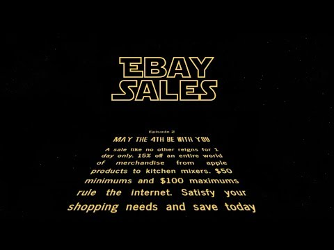 "EBAY SALE. Entire Website 15% off. ""May the 4th be with you"""