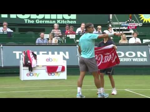 Rafael Nadal vs Dustin Brown FULL MATCH HD Halle 2014
