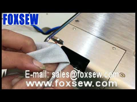 Automatic Button Wrapping and Knotting Machine with Hot Melt Glue Thread