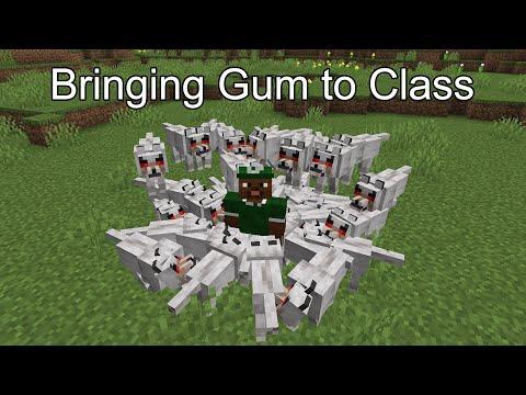 School portrayed by Minecraft