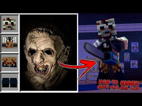 Minecraft HOW TO SUMMON SEED KILLER FROM CREEPY PASTA IN MINECRAFT!!