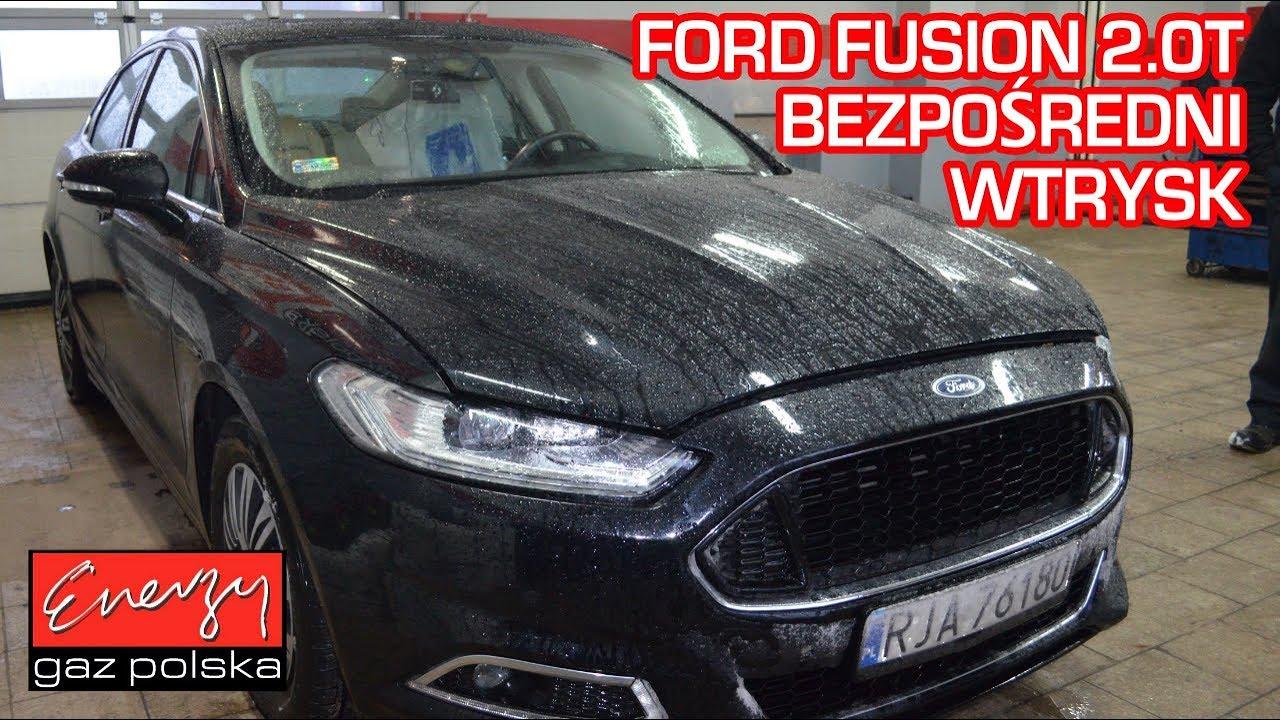 Montaż LPG Ford Fusion USA 2.0T 240KM 2015r bezpośredni wtrysk w Energy Gaz Polska na auto gaz KME