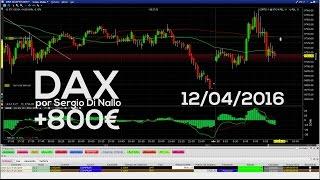 Operativa en DAX +800€ en REAL por Sergio Di Nallo - 12 Abril 2016