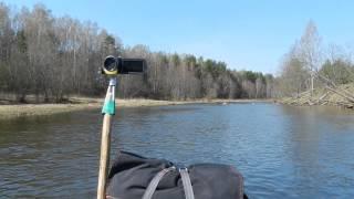 Видео в походе с воды(Мой метод крепления камеры на лодке в одиночном походе., 2014-05-03T18:14:06.000Z)