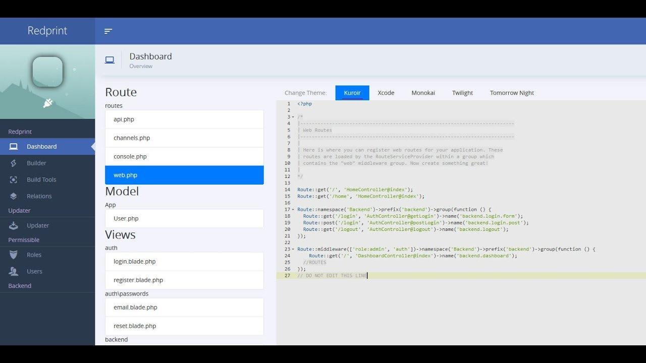 Redprint Laravel App Builder - Version 1 38 - New features