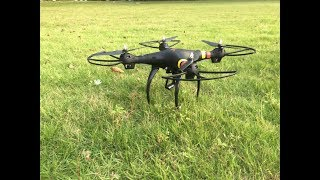 Global Drone GW180  Professional Quadcopter Drone Quadcopter First Flight Test Review