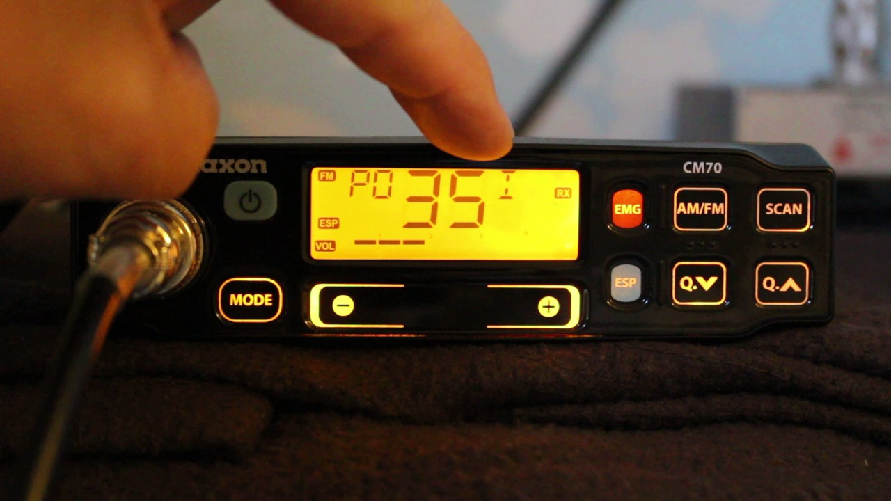 Maxon CM70 CB Radio converted to 10m FM