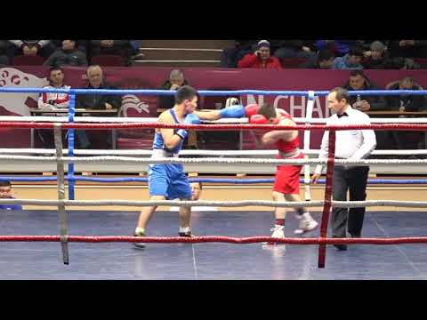 Бокс. Турнир Шопокова-2019. 63 кг 1\16 Григорий Лизуненко (Россия)-Темирлан Конирбай (Казахстан)