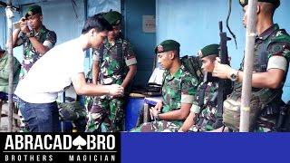 Ngajak Berantem TNI - abracadaBRO HYPNOSIS MAGIC PRANK INDONESIA