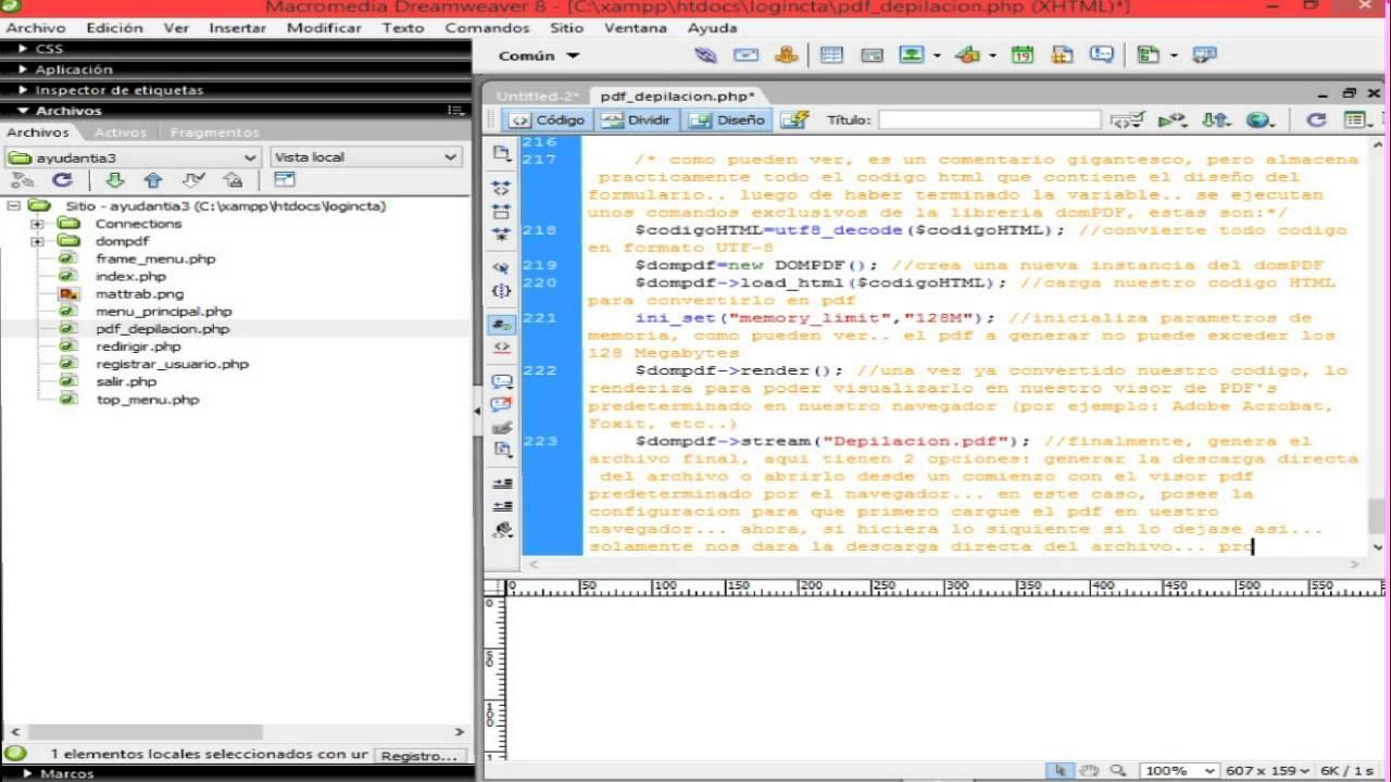 ING SW I] Creacion de PDF\'s con domPDF (PHP+HTML+MySQL) - YouTube