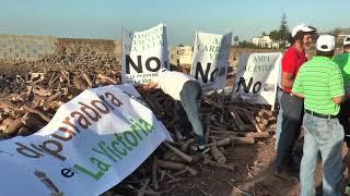 Manifestación No a la depuradora   La Victoria de Acentejo
