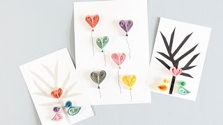 DIY: Quilling card designs by Søstrene Grene