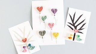 DIY: Quilling card designs by Søstrene Grene