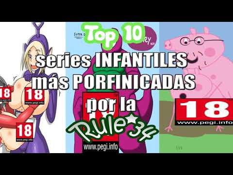 Top 10   Series INFANTILES Más PORNIFICADAS Por La Rule 34   ''+18'' - JeremyX