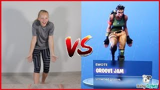 FORTNITE Dance Challenge In Real Life | Baby Gizmo