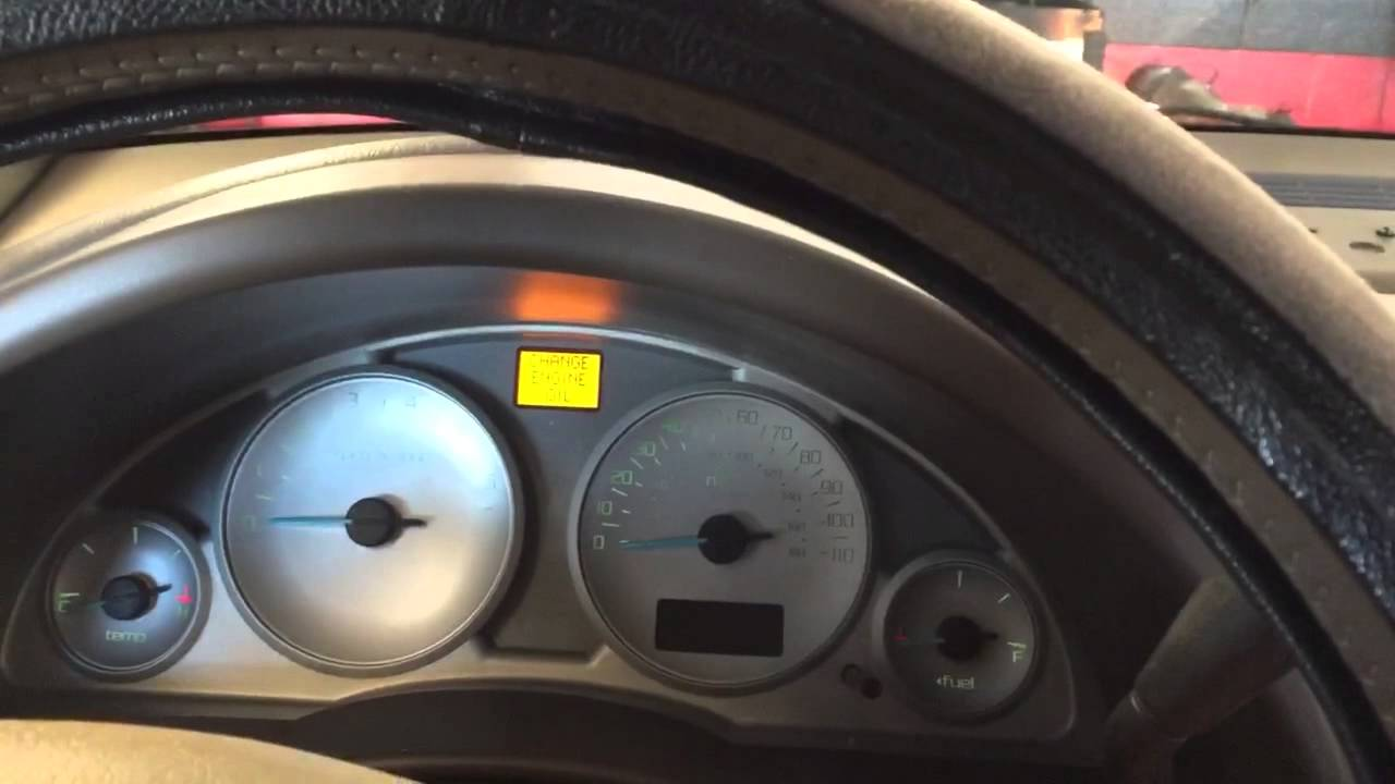 Video Reset Change Engine Oil Light on Buick Rendezvous