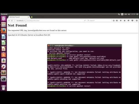 Laravel 5.4 Problem - Wrong Route (Not Found) On Ubuntu 16.04