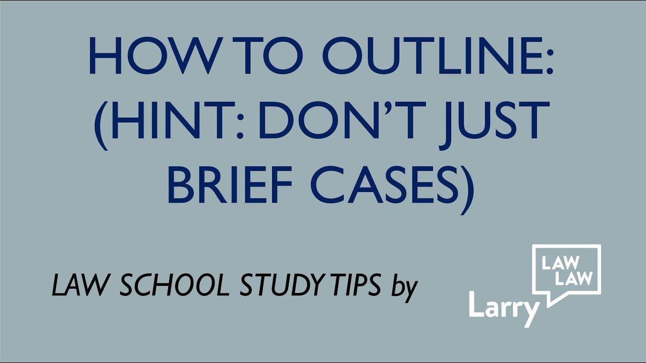 how to make study outline