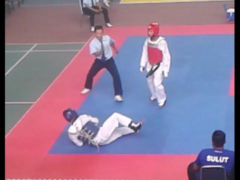 Sulut VS Sultra Kejurnas PPLP  Taekwondo Indonesia